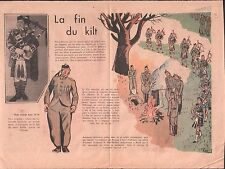 CORNEMUSE BAGPIPE  KILT Scottish regiment ARMY   WWII ILLUSTRATION 1939