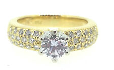 Diamond Ring Hand Made 18ct gold 1x 0.50ct F - VS1 & 0.30ct NEW  RRV $8,700.00