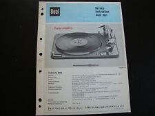 Original Service Manual  Dual 1011