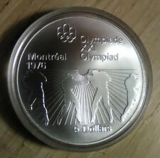 1976 Canada Olympic $5 Silver Coin Montreal Summer Games Boxing BU