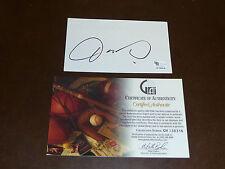 OSCAR DE LA HOYA BOXING SIGNED INDEX CARD GLOBAL AUTHENTICATED 100% AUTH