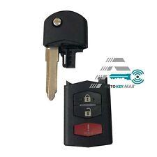 3 Button Remote Flip Key Fob Case Shell Blade For Mazda 5 MX-5 Miata 2006-2012