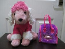 Violet Pucci Pups Carrier & ROSE Caniche Jouet Doux chien très bon état propre