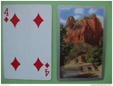 carte à jouer ancienne de collection : paysage américain