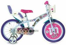 """Dino Bikes LOL Surprise 16"""" Bicicletta per Bambina - Bianco/Rosso"""