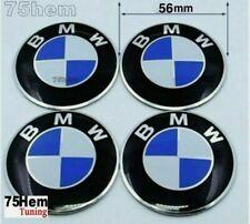 4x Logo pour BMW Aluminium Adhésifs 56 mm centre de roue Cache Moyeu jante