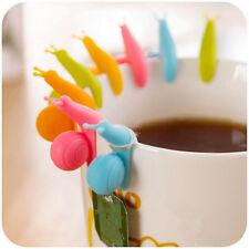 10 PCS Cute Snail Wineglass Label For Tea Bag Hanging Mug Cup Clip Tea Infuser