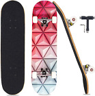 Pwigs NEW Skateboard Complete 31 x 8 Concave Double Kick Maple Deck Red Orange..
