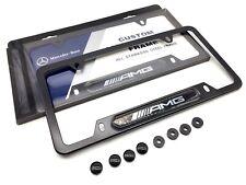 Deluxe Black License Plate Frame AMG CLA45 GLA45 SLC43 C43 GLC43 GLE43 C63 E63