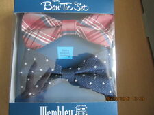 Men's Wembley Bow Tie Set (2) Grover Plaid with Star New in box