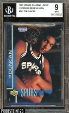 1997 Kenner Starting Lineup Extended Series Tim Duncan RC Rookie BGS 9 MINT