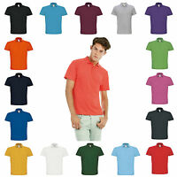 Mens Polo Shirt 100% Ringspun Cotton Short Sleeve T-Shirt Top 20 Colours S–4XL