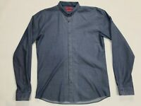 Mens Hugo Boss SLIM Long Sleeve Button Down Shirt SIZE L Blue