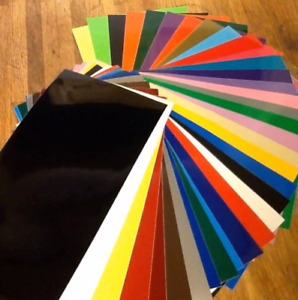 10 x A4 Sheets Self Adhesive Craft Vinyl Mixed Colour 1 Free Silver or Gold