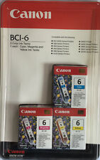 Genuine Canon BCI-6 3 Color (Cyan Yellow & Magenta) Ink Tanks *SEALED*