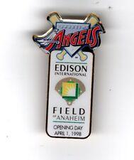 "Edison International Field ""Anaheim Angels"" Opening Day April 1, 1998 Pin  ""NIP"""
