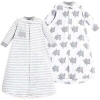 Hudson Baby Baby Long Sleeve Fleece Sleeping, elephants pack, Size 0-9 Months 1b