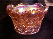 Mosser Glass Orange Tangerine Carnival Star Arch Finger Bowl
