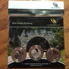 2015 Blue Ridge Parkway Three-Coin 3-Coin Set America Mint Set NF7 ATB Quarter