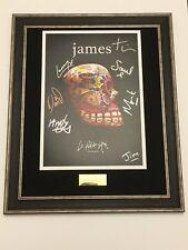 SIGNED/AUTOGRAPHED JAMES - LA PETITE MORT ALBUM PRINT FRAMED PRESENTATION. RARE