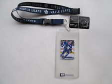TORONTO MAPLE LEAFS LANYARD WITH TICKET HOLDER PLUS COLLECTIBLE PLAYER CARD