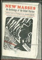 New Masses An Anthology of the Rebel Thirties 1969 1st edition with Dust Jacket