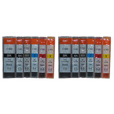 12x CARTUCCE STAMPANTE PER CANON PIXMA mp980 mp990 GRIGIO incl. sostituisce cli-521gy