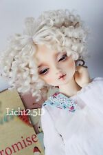 Bjd Doll Parrucca 1/4 7-8 SD MSD AOD DZ LUTS Dollfie blonde curly Toy Head Hair