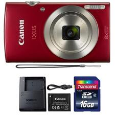 Canon IXUS 185 / ELPH 180 20MP Digital Camera Red and 16GB Memory Card