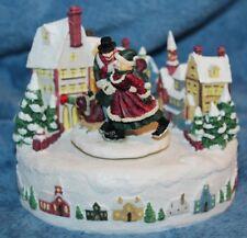 Christmas Music Box Plays Winter Wonderland Skating Scene