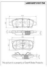 Disc Brake Pad Set-Disc Rear Pronto LMD1037