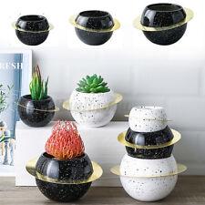 Round Ceramic Vase Wandering Planet Tabletop Flower Pot Home Living Room Decor