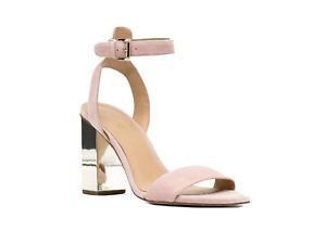 Michael Kors Designer Women's Pink Petra Ankle Strap Heels Size 5.5 Wedding🌈