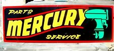 Large Vintage Hand Lettered MERCURY OUTBOARD MOTOR Boat Gas Man Cave Fish SIGN B