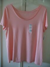 632ad2ef5b9a46 Old Navy Peach LT Orange so Soft Modal Cotton T-shirt Knit Top 18 20