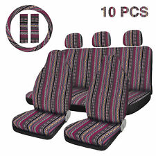 10pcs Universal Seat Covers Saddle Blanket Seat Cover Fit For Car Suv Truck