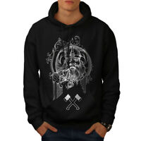 Wellcoda North Viking Warrior Mens Hoodie, Battle Casual Hooded Sweatshirt