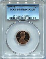 1997 S 1C Lincoln Cent Penny PCGS PR69RD DCAM