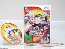 NARUTO - CLASH OF NINJA  REVOLUTION III  OVP/Anl.  +Nintendo Wii Spiel+