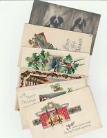 Vintage Holiday and Dog Postcards Lot of 6 Christmas St. Patrick's Day