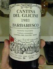 Vino Barbaresco 1981 Cantine Del Glicine