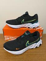 Nike Renew Ride Running Shoes Black White Lime Glow CU3507-006 Men's NEW