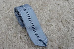 Krawatte 150cm lang / 5cm breit - Blau Schwarz Muster Herren Herrenkrawatte H43