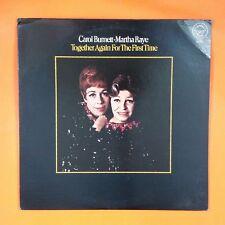 CAROL BURNETT & MARTHA RAYE Together Again For The First Time T106 LP Vinyl VG++