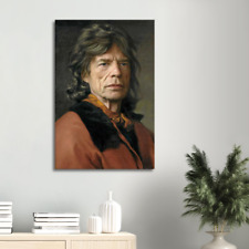 Leinwandbild MICK JAGGER Rolling Stones 60 x 40 cm Kunstdruck Leinwand Bild NEU