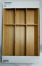 "New listing Ikea Variera Flatware tray, bamboo12x20 "" New, 6 space tray"