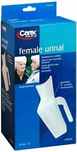 Carex Female Urinal Easy to Use Graduated for Accurate Measurement P706-00