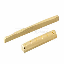 Guitar Brass Carved Saddle & Nut 72x3mm for Acoustic Guitar Accessories