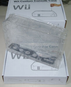 Nintendo Wii Ersatz-Gehäuse / Transparent / Plexiglas Optik - Neu