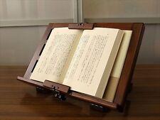Wooden Alder Bookstand Rack Holder Bookrest adjustable Craft Made in Japan NEW